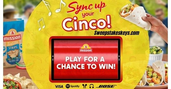 Mission Foods Cinco De Mayo Instant Win game 2021