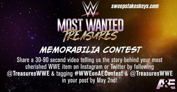WWE Most Wanted Treasures Memorabilia Contest