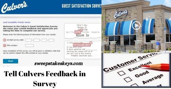 Tell Culvers Feedback in Survey