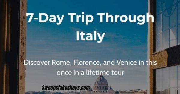 Live Sozy Trip Through Italy Sweepstakes