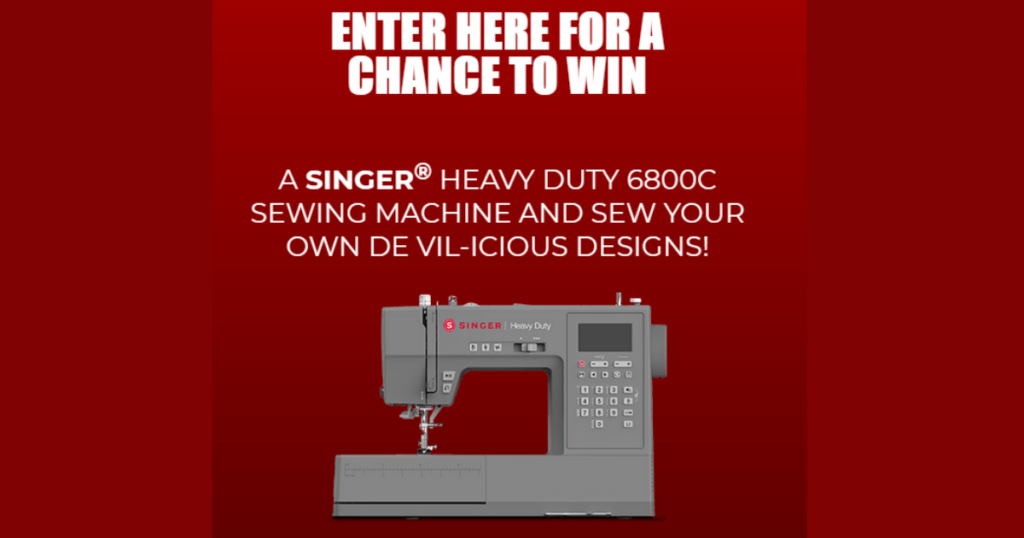 Disney's Cruella Singer Heavy Duty Machine Sweepstakes