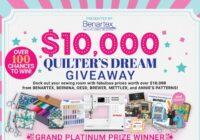 Benartex $10000 Quilter Dream Giveaway