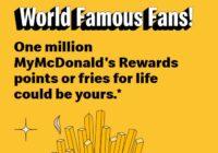 My McDonalds Fan Contest