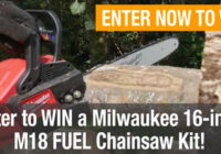 Milwaukee M18 FUEL 16 Chainsaw Kit Giveaway
